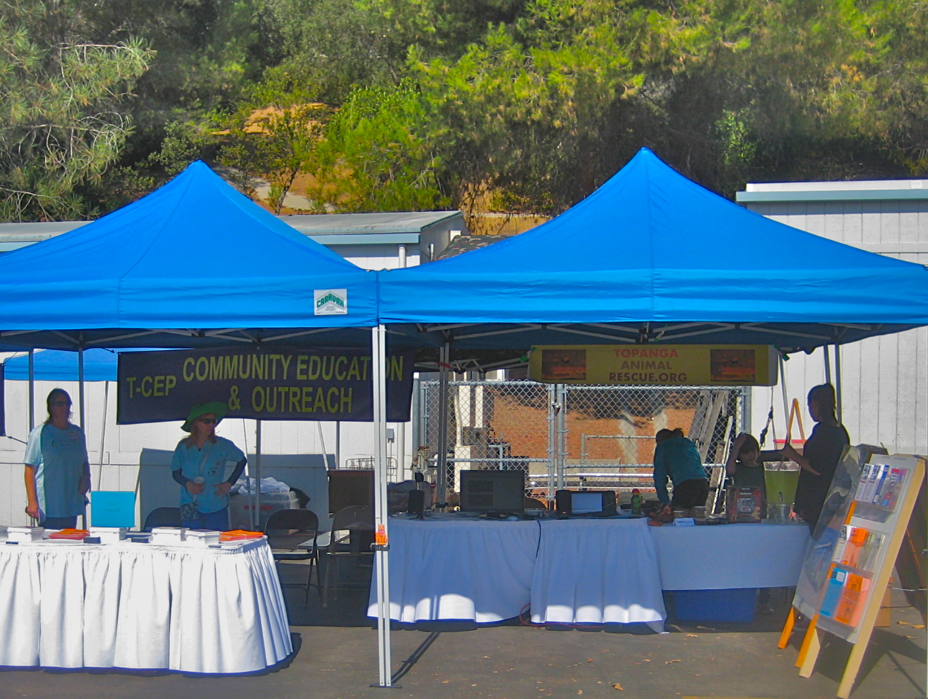 Our booths at the T-CEP fair, Topanga Animal rescue and T-CEP Outreach